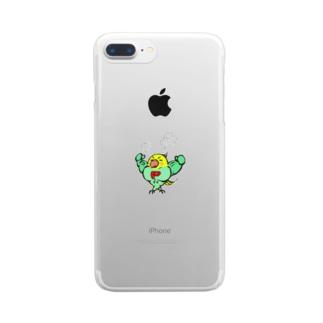 プロテインこ! Clear smartphone cases