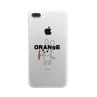 デタラメウサギ Clear smartphone cases