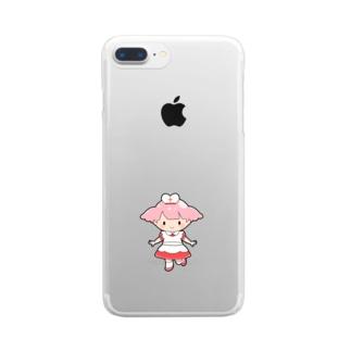 お助けモモちゃんのハッピーグッズ Clear smartphone cases