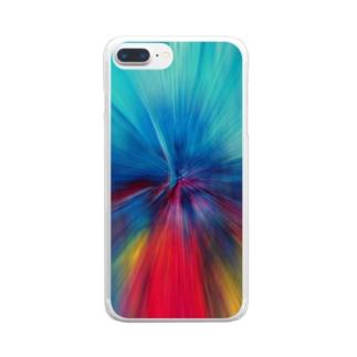 放射状 #1 Clear smartphone cases