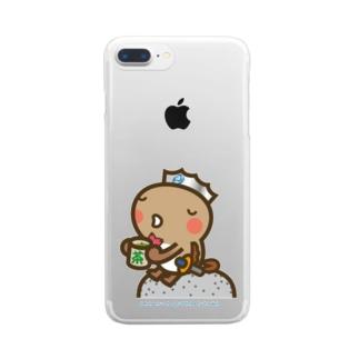 邑南町ゆるキャラ:オオナン・ショウ『ティーブレイク』 Clear smartphone cases