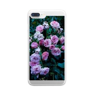 濡れた薔薇 Clear smartphone cases