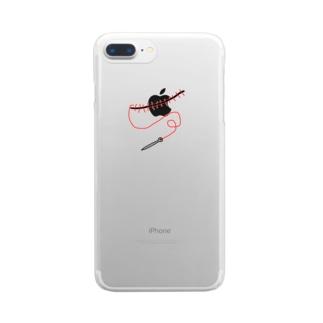 糸と針 Clear smartphone cases