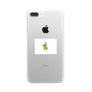 おはようきょうりゅうかっぱ Clear smartphone cases