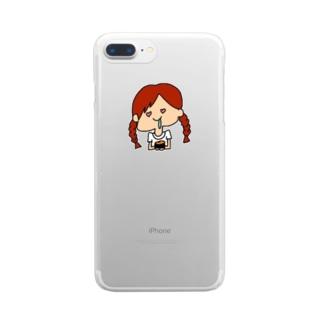 ウニよだれちゃん Clear smartphone cases