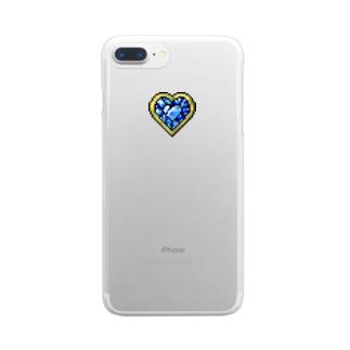 はるの♡  変身ブローチ②  ♡ Blue Clear smartphone cases