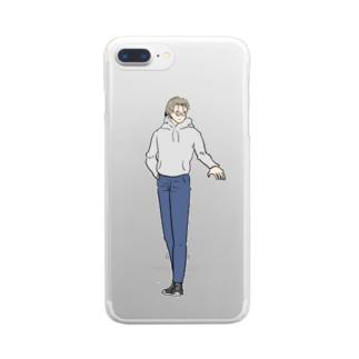 我らがメガネ男子 Clear smartphone cases