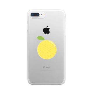 洋さんのグレープフルーツ Clear smartphone cases