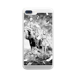 モノクロームエンジェルズ Clear smartphone cases