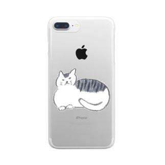 モチネコ Clear smartphone cases