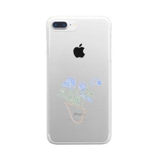植木鉢 Clear smartphone cases