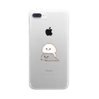 みじめちゃんと恨みちゃん Clear smartphone cases