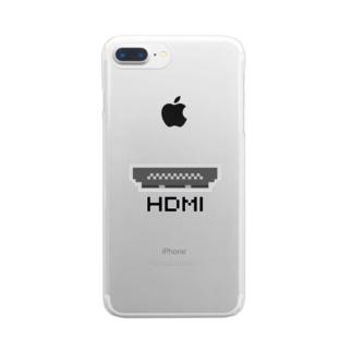 ドットHDMI 黒 Clear smartphone cases