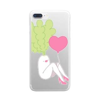 Beautiful Daikon Clear smartphone cases