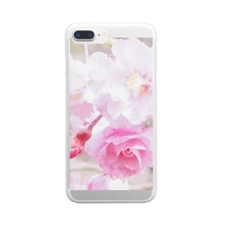 MIHANAのさくら咲く春 Clear smartphone cases
