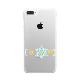 結晶と星 Clear smartphone cases