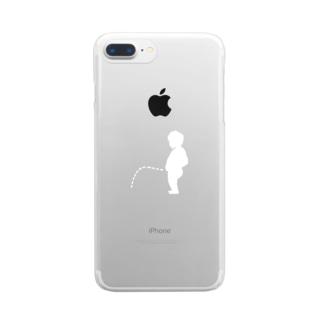 しょんべん小僧(白) Clear smartphone cases