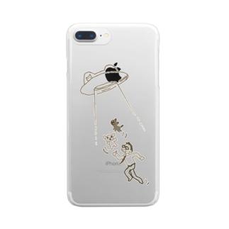 ねこうさぎUFOケースA Clear smartphone cases