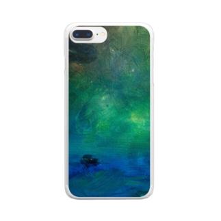 ムラナギ/ボートハウス Clear smartphone cases