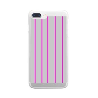 グレーピンク Clear smartphone cases