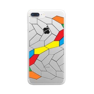 Last pentagonal tiling2 Clear smartphone cases