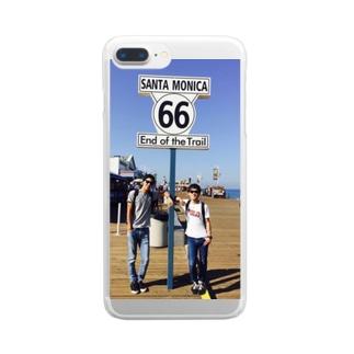 東海オンエアのとしくんとりょうくん Clear smartphone cases