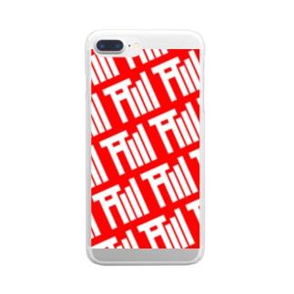 アンテナ鳥居モノグラムRED&WHITE Clear smartphone cases