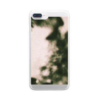 胞子爆発 Clear smartphone cases