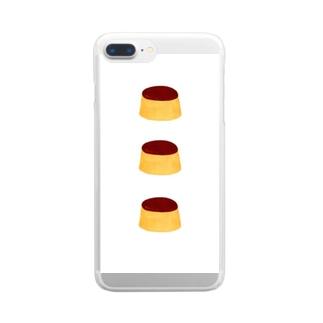 プリン整列 Clear smartphone cases