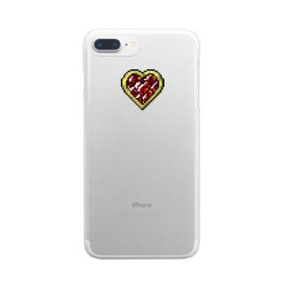 はるの♡   変身ブローチ ♡ red Clear smartphone cases