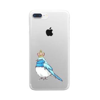 王冠オオルリ Clear smartphone cases