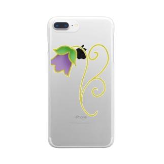花釣り鐘 Clear smartphone cases