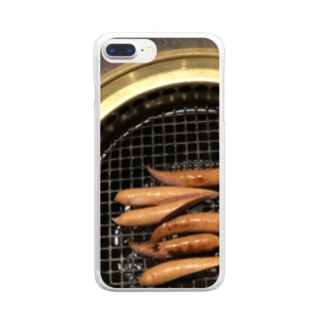 そーせーじ Clear smartphone cases