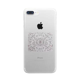 Gatto69Rosso  混沌 Clear smartphone cases