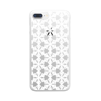d*ropsの幾何学柄 Clear smartphone cases