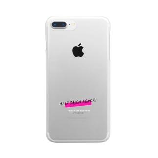 HAIR SALON KOMORI 2020ss Clear smartphone cases