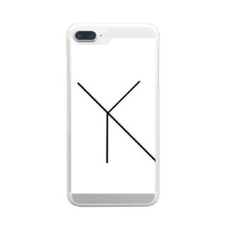 米津名無グッズ Clear smartphone cases