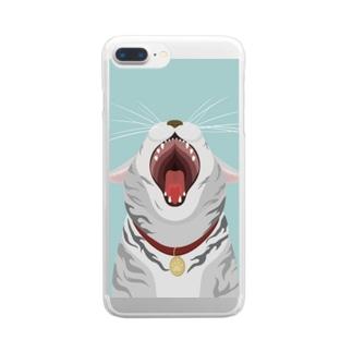 おおきなくち Clear smartphone cases