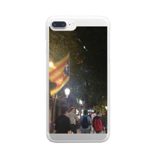 独立運動(人) Clear smartphone cases