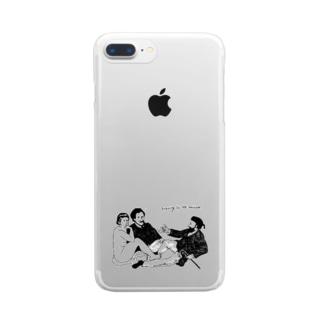 草上の昼食 Clear smartphone cases