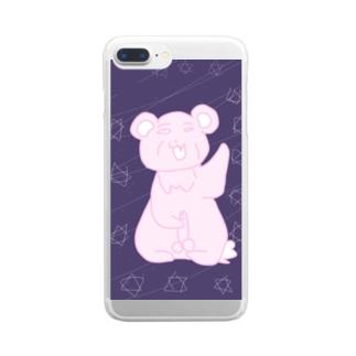 地雷なおぢさん Clear smartphone cases