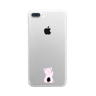 のののま限定商品 Clear smartphone cases