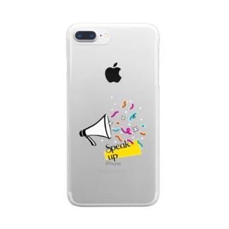 フラワーメガホン Clear smartphone cases