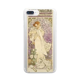 「LA. DAME. / AUX. CAMELIAS / SARAH BERNHARDT」  Mucha, Alphonse/Paris Musées Clear smartphone cases