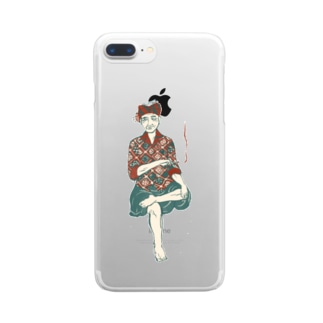 【バリの人々】おじいちゃん Clear smartphone cases