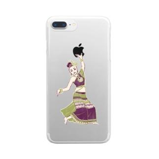 【タイの人々】伝統舞踊のダンサー Clear smartphone cases
