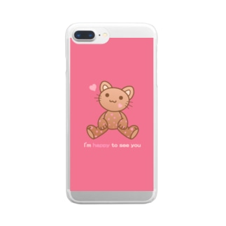 🍫Choco nyan😺~PK~ Clear smartphone cases