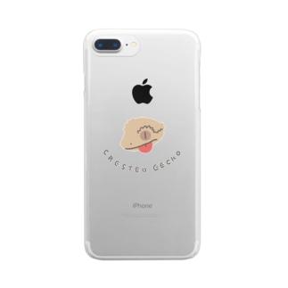 クレステッドゲッコー  Clear smartphone cases