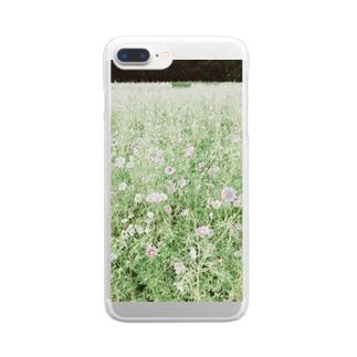 淡いコスモス Clear smartphone cases