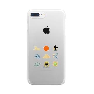 エジプトチック Clear smartphone cases